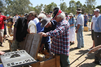 Keen buyers check out the offerings